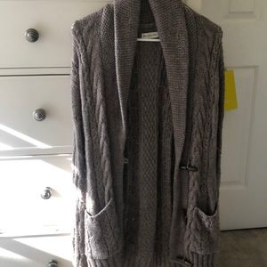 abercrombie brown cardigan